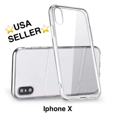 iphone X shockproof slim soft tpu rubber silicone case cover apple