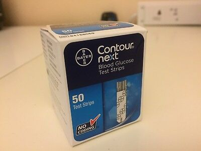 Contour Next Blood Glucose Test Strips Sealed Box of 50