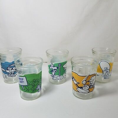 Lot of 5 Welch's Looney Tunes Jelly Jar 1 4 8 9 10 1994 Collector Series