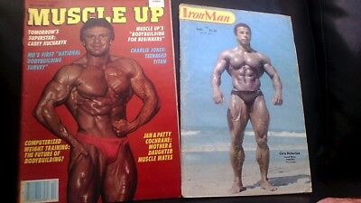 2x vintage bodybuilding magazines Iron Man Sept 1980+ Muscle Up Oct 1983