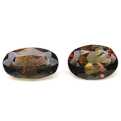 2.24Cts 100% EXTREME HI-END NATURAL TOP LUSTER PAKISTAN AXINITE OVAL GEMSTONE