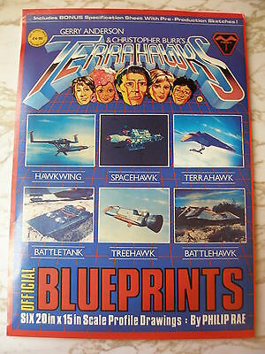 1983 Vintage Gerry Anderson Offical TERRAHAWKS BLUEPRINTS  Set