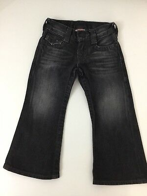 True Religion Billy Boys Jeans, Size Age 2, Black, Charcoal, Vgc