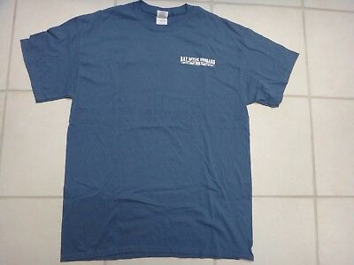 "Ray Wylie Hubbard ""Screw You, We're From Texas"" T-Shirt~Medium Blue~Adult L~GUC"