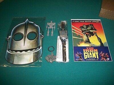 The Iron Giant Figure-Watch-Key Chain-Comic Mask Awesome lot The Iron Giant