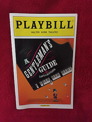 Broadway Playbill - A Gentleman'S Guide To Love And Murder, April 2015