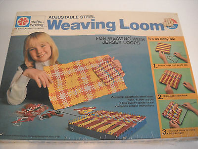 Vtg 1971 Milton Bradley Crafts By Whiting Adjustable Steel Weaving Loom, Sealed