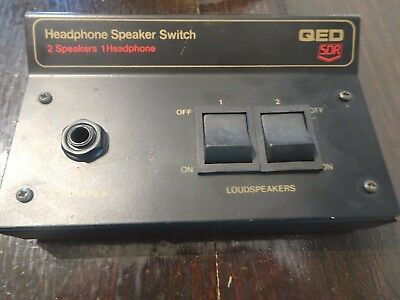 QED SDR UHSS2 GOLD 2 Way Speaker Headphone Control Box