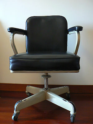 VINTAGE 60´s DOCTOR´S OFFICE LEATHER CHAIR - GREAT LOOK!!!