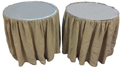 Farmhouse Linen Tables Rustic Wedding Skirted Display Tables Nightstands