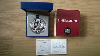 Coffret 10 Euro France 2012 Grands Navires L'Hermione Complet Proof, Francia