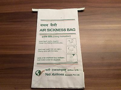 Yeti Airlines Air Sickness Bag