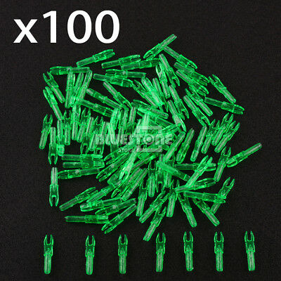 100x Archery Hunting Plastic Arrows Shaft Tail Replace Nock 4.2mm Length 29mm