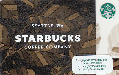 New Greece Starbucks Collectible Card Seattle Coffee Company (6141)