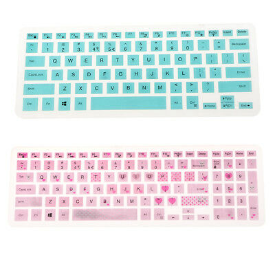 """2x Silicone Keyboard Cover Keypad Skin for Dell 14CR 14"""" Laptop Computer #3"""