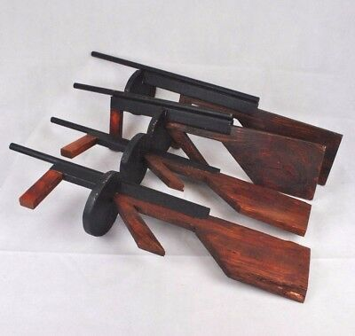 Set of 4 Four Handmade Wooden Tommy Splurge Guns Show Prop Play Bugsy Malone Toy