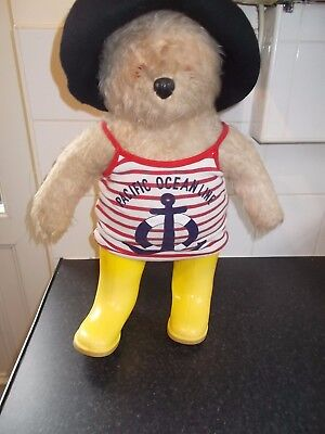 Vintage Gabrielle Designs 1974 Pacific Ocean Line Paddington Bear 18""