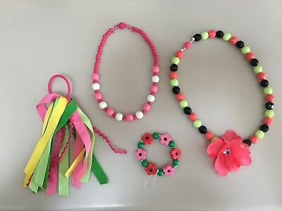 Gymboree Accessories Lot - Jewelry, 2 Necklaces, Bracelet, and ponytail holder
