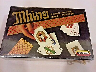 Vintage Mhing Card Game by Spears Games Still Factory Sealed Box from 1984