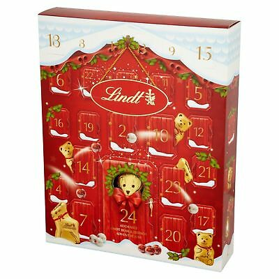 NEW ! LINDT Bear Christmas Advent Calendar 250g - Luxury Christmas Advent 2017