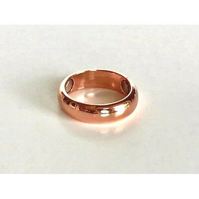 Arthritis Solid Magnetic Copper Ring With 3 - 2,000 Gauss Magnets. Sizes 6 - 16