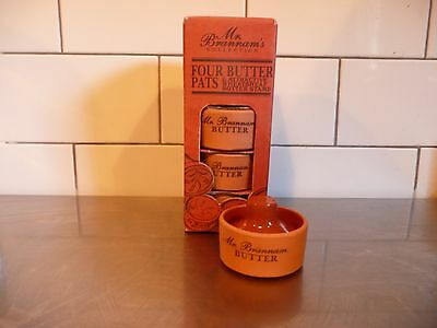 Royal Barum Ware Mr Brannam's Collection Set Of Four Butter Pats and Stamp