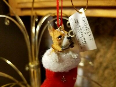 Boxer Santa's Little Pals Dog Christmas Ornament
