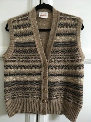 Vintage Pure Wool Waistcoat Size M/L