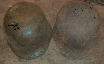 German WWII 2x helmets from Normandy area