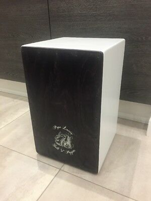 Cajon Drum- Clear Water. With Carry Case And Base Tube