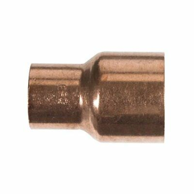 """Elkhart 30768 Reducer Coupling With Stop 1-1/2"""" x 1"""" - Copper"""