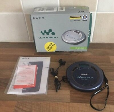 Sony Cd Walkman - G-Protection - D-Ej621 - Boxed - Tested Working