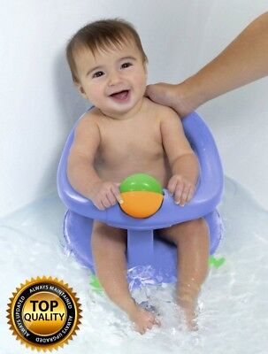 Safety 1st Baby infant Toddler Bath Tub Swivel Seat With Fun play ball Toy -Blue