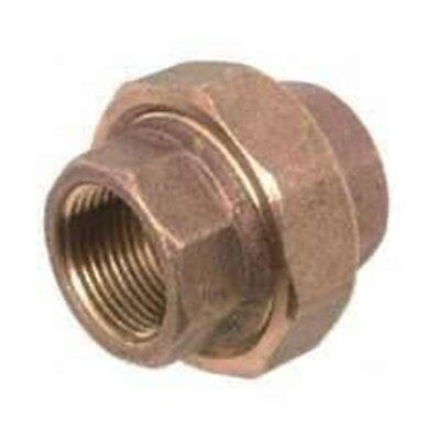 """Anderson Metals 738104-04 Brass Pipe Fitting Union 1/4"""", Red"""