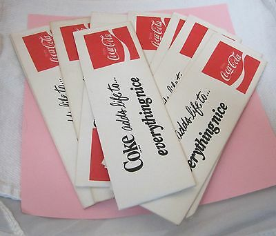Lot 10 Vintage Coke Coca Cola Paper Work Hats Advertising Soda Jerk Hat T46