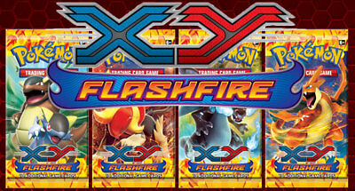 1 x Pokemon XY - Flashfire Booster Pack (10 cards) WEIGHED PACK FOR COLLECTING!
