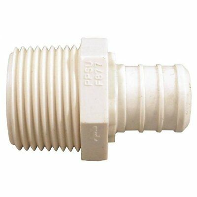"""Apollo Valves PXPAM12 Poly Alloy PEX Male Adapter, 1/2"""" MPT x 1/2"""" Barb"""