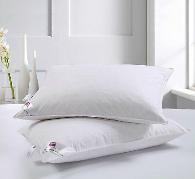 Luxury Goose Feather and Down Pillows, Comfortable Hotel Quality - Pack Of 2 New