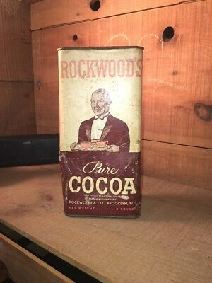 Vitnage 1940-50 Rockwoods Pure Cocoa Tin