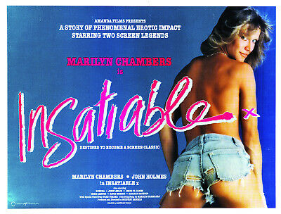 Insatiable Original UK Movie Poster Marilyn Chambers/John Holmes