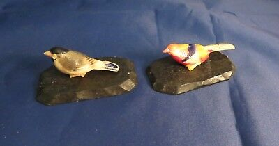 Pair of Vintage Occupied Japan Birds On A Base