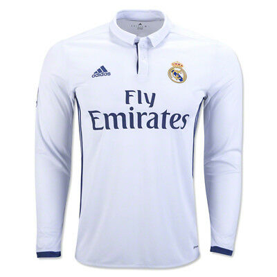 Real Madrid Kids Adidas 2016/17 L/S Home Shirt 'RONALDO 7' (11-12 Years)