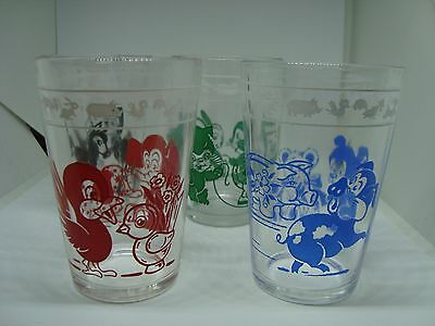 Beautiful Set of 4 CHILDREN'S SWANKY SWIGS Juice Glasses. A Must See!