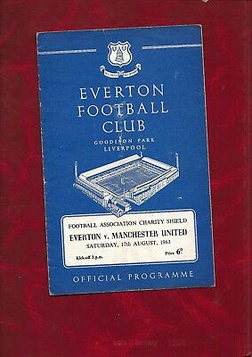 1963 Charity Shield Everton v Manchester United football programme