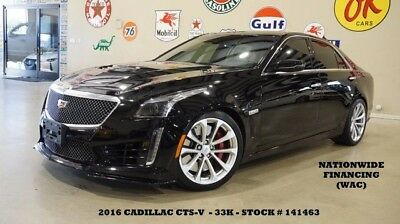 2016 Cadillac CTS 16 CTS-V SEDAN,HUD,PANO ROOF,F.CAM,NAV,BACK-UP,HTD 16 CTS-V SEDAN,HUD,PANO ROOF,F.CAM,NAV,BACK-UP,HTD LTH,19IN WHLS,33K,WE FINANCE!