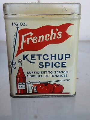"""French's Ketchup Spice - Spice Tin - 1 1/2 Oz. - Rochester, Ny -  3"""" Tall"""