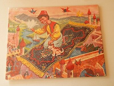 Aladdin Flying Carpet Vintage 1950s Fairy tales tray puzzle