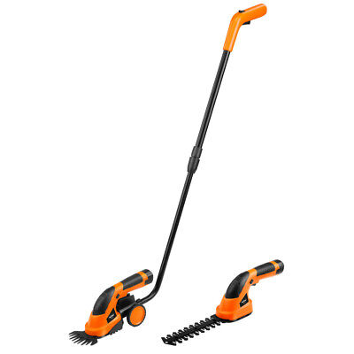 Hedge Grass Cordless Lawn Bush Trimmer 7.2V Garden 2 in 1 Strimmer Cutter Shear
