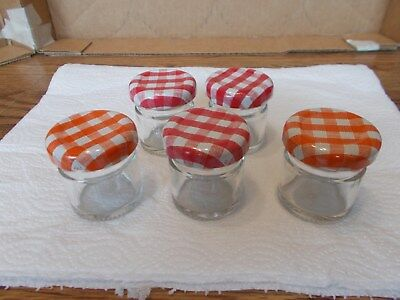"""Vintage Smuckers Small Jelly Jars  Collectible 1 1/2"""" Dia x 1 1/2"""" High Cute!!"""
