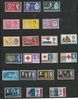 GB - 1962-5 commemorative phosphors nearly complete VF MNH cat £294.35 = $370